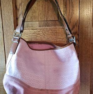 Pink Coach tote bag, small signature print!